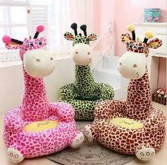 Kids Sofa Chair, Baby Sofa, Cartoon Giraffe, Cute Giraffe, Baby Cartoon, Plush Dolls, Doll Toys, Kawaii, Plush Animals