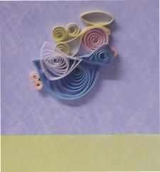 easy quilled card for christmas    http://www.handmade-craft-ideas.com/christmas-quilling-designs.html#angel