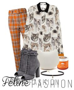 """cat to cat"" by anja-m on Polyvore featuring Taro Horiuchi, STELLA McCARTNEY, Prada, Origins, Carbon & Hyde, orange, polyvorecontest, catstyle and polyvoreset"