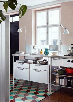 scandinavian interior design Scandinavian Interior Design, Double Vanity, Interior Inspiration, Kitchen Dining, Cool Stuff, Table, House, Furniture, Home Decor