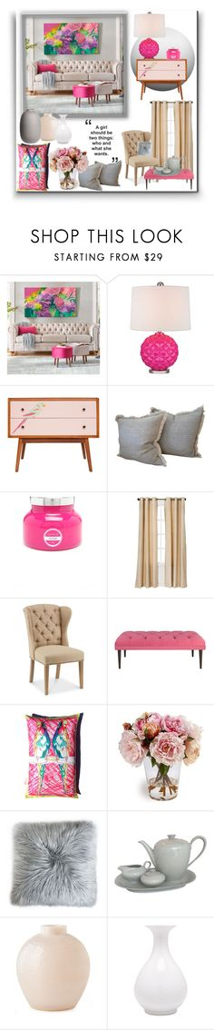 """Girl's room"" by irina-demydovych ❤ liked on Polyvore featuring interior, interiors, interior design, home, home decor, interior decorating, Grandin Road, Lazy Susan and Eclipse"
