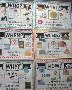 """42 Likes, 4 Comments - Teach Love Autism (@teachloveautism) on Instagram: """"These posters have been a life saver this year to help my students with answering Wh- questions..."""""""