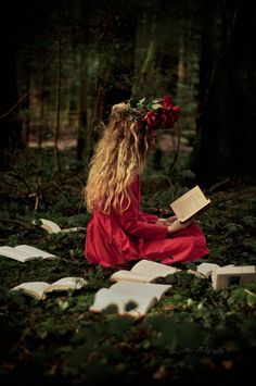 "Girl wearing out books by reading. ""We are of opinion that instead of letting books grow moldy behind an iron grating, far from the vulgar gaze, it is better to let them wear out by being read."" ― Jules Verne, Journey to the Center of the Earth"