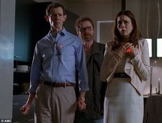 'Here's the deal': Walt tells Elliott and Gretchen Schwartz that they must deliver his drug money to his son, Flynn, on his 18th birthday  Read more: http://www.dailymail.co.uk/tvshowbiz/article-2438422/BREAKING-BAD-SPOILER-ALERT-Explosive-finale-shocking-twists-everyone.html#ixzz2iUPv2HkZ  Follow us: @MailOnline on Twitter | DailyMail on Facebook