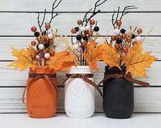 Halloween Monster Mason Jars / Monster Mason Jars / Halloween | Etsy