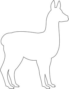 llama pattern to cut out. Patchwork Patterns, Applique Patterns, Alpacas, Felt Crafts, Diy And Crafts, Sewing Crafts, Sewing Projects, Animal Templates, Printable Templates