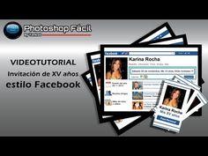 Invitación de XV años estilo Facebook Photoshop yanko0 - YouTube Photoshop Illustrator, Coreldraw, Facebook, Learning, Life, Party, Youtube, Social Networks, Cards