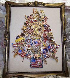 Patriotic theme tree,sold on ebay