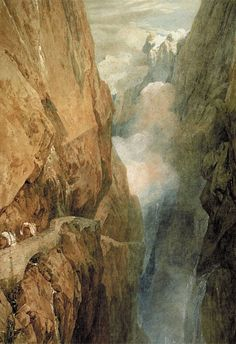 The St. Gotthard Pass, watercolor painting by Joseph Turner.