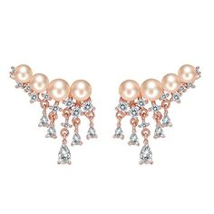 GUESS Basic Gold and White Enamel Knot Hoop and Heart Trio Stud Earrings ** Click on the image for additional details.