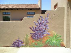 Purple Cactus Wall Murals Cactus Wall Murals for Your Back Yard Garden