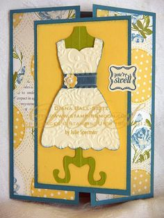 Dress Up Stamped Card www.stampingmoon.com
