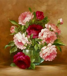 Bouquet & Full Of Flower Basket  painting  by  Fasani