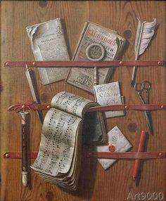 Edwaert Collier - Pinboard with flute