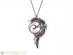 Pendant, Fern Frond, Moss Agate Jewelry, Pagan Gifts, Elven Necklace, Forest Jewellery, Folk Lore, Jade Pendant, Wiccan Jewellery, Elvish