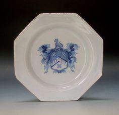 Garry Atkins | English or Irish  octagonal armorial plate | New York Ceramics and Glass Fair