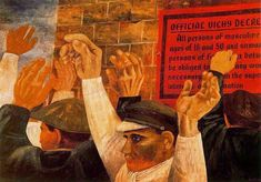 Ben Shahn, a painter and photographer of Lithuanian origin with a heightened social awareness belonging to the left wing of the so-called American Scene. Wall Art Designs, Artwork Design, Artwork Ideas, History Of Illustration, Illustrations, Industrial Wall Art, Ben Shahn, Photo Sculpture, Textile Fiber Art