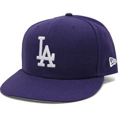 Men s New Era Purple Los Angeles Dodgers Basic 59FIFTY Fitted Hat 0ef32397dbba