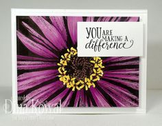 Impression Obsession - Cling Mounted Rubber Stamp - By Tara Caldwell - Abstract Zinnia Impression Obsession Cards, Just Ink, Pretty Cards, Zinnias, My Stamp, Cool Cards, Flower Cards, Photo Cards, Birthday Cards