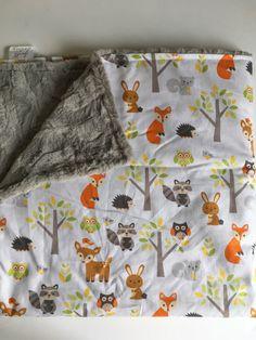 Woodland baby blanket. https://www.etsy.com/listing/459432336/woodland-forest-animal-baby-blanket-fox