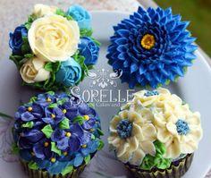 Floral/flower buttercream cakes and cupcakes    by Sorelle Floral Cakes : facebook.com/SorelleFloralCakes