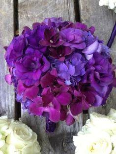 Rich Royal Purple wedding bouquet by jaclyn
