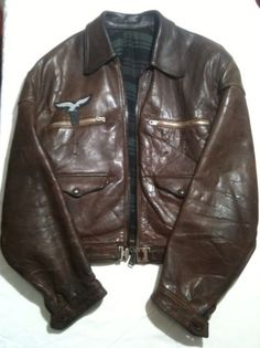 Ww2 Luftwaffe Hartmann Leather German Fighter Pilots Jacket,badge,EK1,Flight Bag in Collectables, Militaria, World War II (1939-1945) | eBay