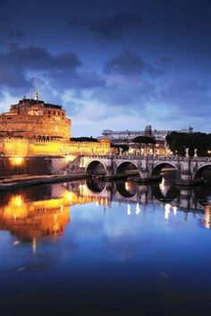Rome, Italy - Castel Sant'Angelo. 41°54′11.01″N 12°27′58.61″E