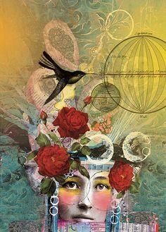 """Inventor"", mixed media art by Anahata Katkin / PAPAYA Inc., via Flickr"