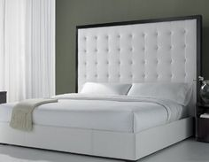 Love how this is oversized and a big statement. I might choose a different color than white though - Headboard Fabric-photolarge.jpg