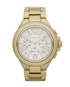 Michael Kors Mid-Size Golden Stainless Steel Camille Chronograph Watch #fashion #MK #watch