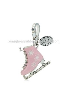 Limited Edition Pink Ice Skate Charm for Also comes in white with blue snowflakes. Pink Love, Pretty In Pink, Pink Purple, Ice Skating, Figure Skating, Juicy Couture Charms, Charm Jewelry, Jewlery, Charm Bracelets