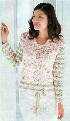Increibles puntos calados para prendas femeninas con patrones   Incredible openwork points for women's clothing patterns