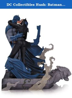 """DC Collectibles Hush: Batman and Catwoman Kiss Statue. BATMAN HUSH BATMAN & CATWOMAN KISS STATUE DC COMICS Sculpted by TIM BRUCKNER The Dark Knight and the Feline Fatale steal a kiss in this intricately sculpted statue ripped from the pages of the best-selling BATMAN: HUSH graphic novel, illustrated by superstar artist Jim Lee. Limited Edition of 2500 Measures Approximately 11"""" Tall."""