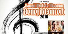 """ウクレレ・ミュージアム・ベネフィットコンサートのチケット発売スタート! """"Ukulele Museum Benefit Concert Tickets on sale now!"""" #Hawaii #ハワイ Official 'Ukulele Picnic in Hawai'i Ukulele Picnic in Hawaii http://www.poohkohawaii.com/event/ukulele_benefit16_pre.html"""