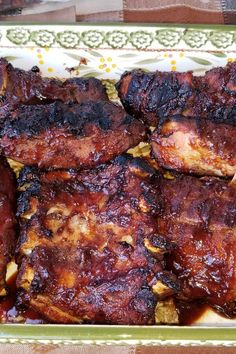 Grill Recipes, Meal Recipes, Dinner Recipes, Healthy Recipes, Smoked Pork Spare Ribs, Pork Ribs, Bbq Ideas, Food Ideas, Slimming Workd