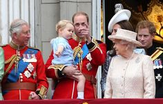 Pin for Later: See Prince George's and Princess Charlotte's Equally Sassy Buckingham Palace Balcony Debuts, Side by Side Getting a Few Pointers: Prince George As Prince George looked to Kate and his grandmother, Prince William helpfully tried to show him where the action was happening.
