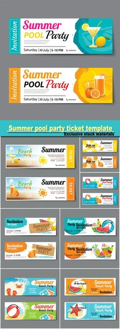 Event Tickets Template 22 Ticket template, Event ticket and Template - party tickets templates