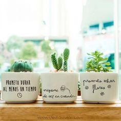 FRASES MACETAS, vinilos decorativos para plantas de Ubika vinilo
