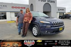 Congratulations to Deborah Symank on your #Jeep #Cherokee purchase from Bill Reed at Four Stars Auto Ranch! #NewCar