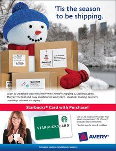 Avery Rebate: FREE $25 Starbucks Card   officezilla.com/avery-rebate/