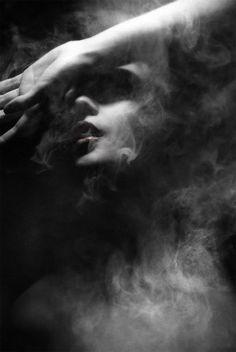 Italian artist, Federico Bebber creates these stunning dark and moody female portraits through a creative digital manipulation process.
