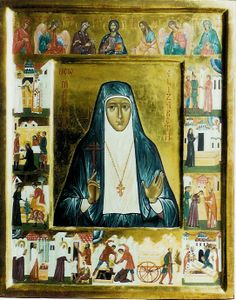 New Martyr St Elizabeth (with scenes) - Aidan Hart Sacred Icons