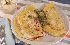 Crêpes croque-monsieur WW, recette de savoureuses crêpes farcies au jambon, fromage et béchamel et gratinées au four, facile à confectionner pour un repas léger et convivial.
