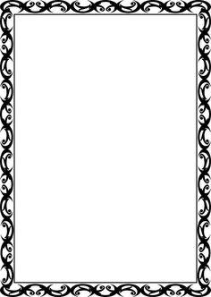 recipe templates for word Frame Border Design, Page Borders Design, Printable Labels, Printable Paper, Stationary Printable, Borders For Paper, Borders And Frames, Border Templates, Recipe Templates