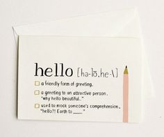 hello greeting card | quill and fox