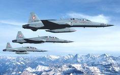 Swiss Air Force, Northrop F-5F Tiger II, USA, 12x, 1976 - 2012