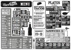cool menu format