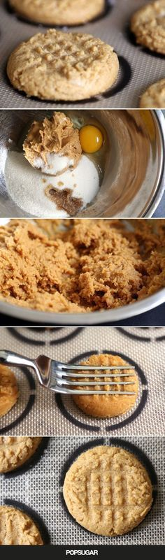 These peanut butter cookies are fast, easy, 4-ingredient, gluten free, and 100% delicious! Unlike other fussier cookie recipes, all the ingredients are dumped and mixed together, and due to the high fat content in the peanut butter, the dough balls can be shaped in a hot second without sticking to your fingers (or a spring-form scooper). As promised, the cookies bake up in 15 minutes tops.