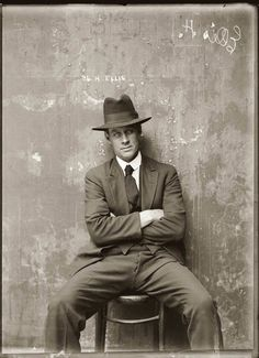 Herbert Ellis circa 1920  Photograph by The Sydney Justice & Police Museum